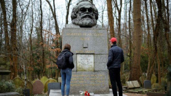 La tombe de Karl Marx, à Londres, le 5 février 2019