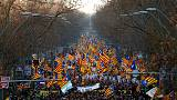 Seeking independence 'is not a crime,' Barcelona protesters say