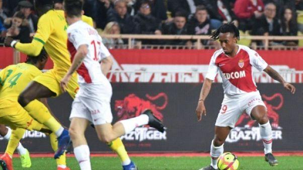 Ligue 1: Monaco bat Nantes et sort de la zone rouge, à la 16e place
