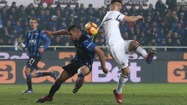 Calcio: Atalanta-Milan 1-3