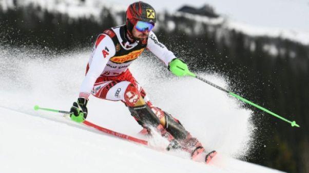 Mondiaux de ski: Hirscher écrase la 1re manche du slalom, Pinturault résiste