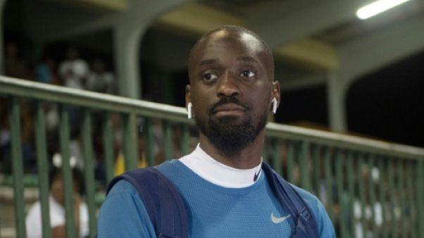 L'athlète Teddy Tamgho à la Guadeloupe le 12 mai 2018