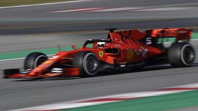 F1: test Montmelo, Vettel subito veloce