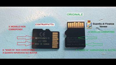 Schede micro sd contraffatte, 2 denunce