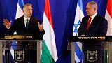 Orban urges end to Israeli-Polish rift over Poland's WW2 role