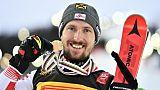 Ski: l'Autrichien Hirscher s'adjuge son 6e Globe de cristal en slalom