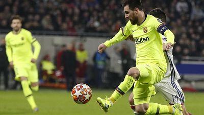 Champions: Lione-Barcellona 0-0