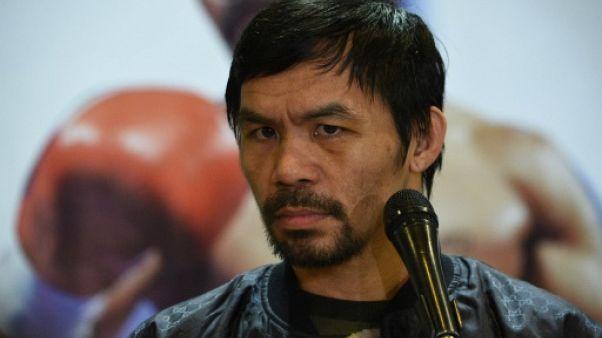 Boxe: Pacquiao tente de décourager son fils de monter sur un ring