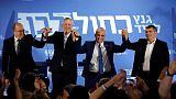 Netanyahu's strongest challengers form alliance for Israeli election