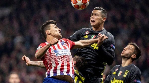 Esultano spagnoli,'Atletico divora Juve'