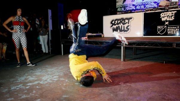 Performance de breakdance à Brooklyn, le 20 août 2018