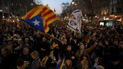 Catalogne: grève et routes coupées contre le procès des indépendantistes