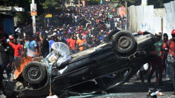 Manifestation à Port-au-Prince, le 12 février 2019 en Haïti