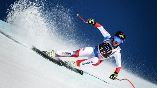 Ski alpin: Lara Gut-Behrami monte sur le podium de la descente de Crans-Montana après vérification