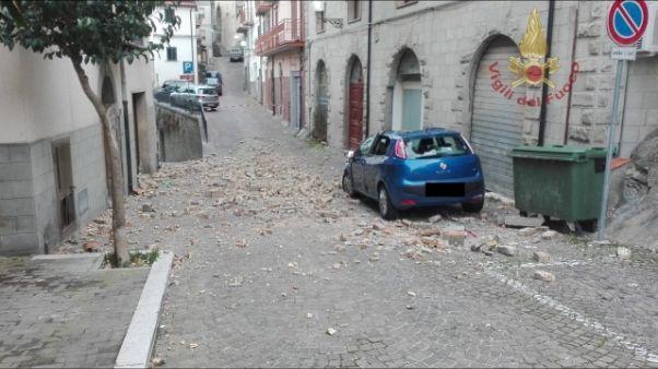 Vento forte in Molise, alberi caduti