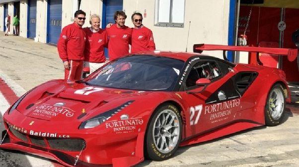 Villeneuve-Fisichella provano Ferrari GT