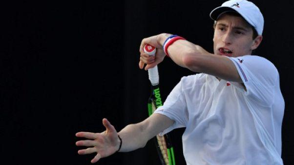 Le Français Ugo Humbert lors de l'Open d'Australie le 15 janvier 2019