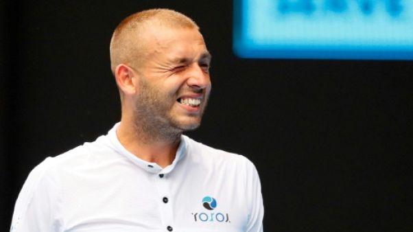 Le Britannique Daniel Evans à l'Open d'Australie le 16 janvier 2019