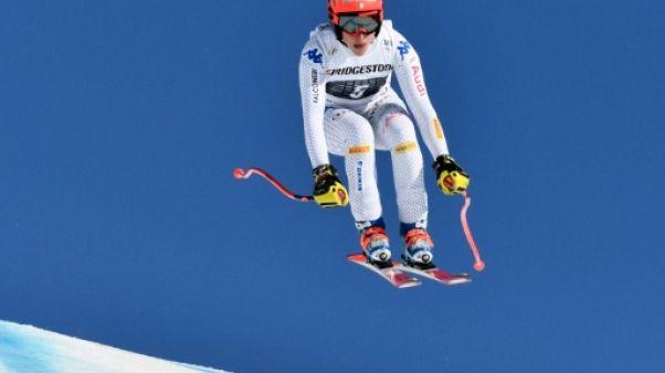 Ski alpin: Brignone aux commandes après la descente du combiné de Crans-Montana
