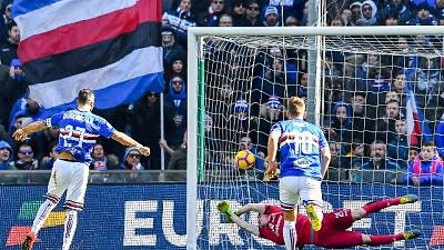 Samp-Cagliari 1-0, decide Quagliarella