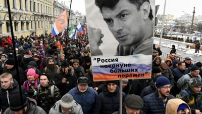 Russie: marche en mémoire de l'opposant Boris Nemtsov assassiné il y a quatre ans