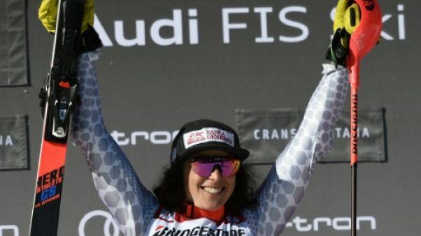 Ski alpin: le triangle d'or de Brignone en combiné à Crans-Montana