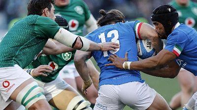 Rugby: 6 Nazioni, Italia-Irlanda 16-26