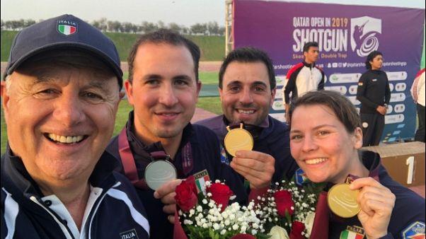Tiro a volo: Italia doppio oro in Qatar