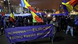Thousands of Romanians protest against judicial changes