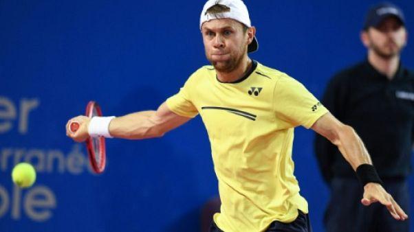 Le Moldave Radu Albot lors du tournoi de Montpellier, le 9 février 2019