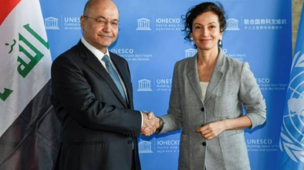 Le président irakien discute de la reconstruction de Mossoul à l'Unesco