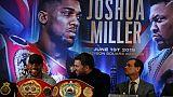 """Boxe: Joshua promet à Miller de lui """"arracher son âme"""""""