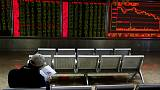 Asian shares slip from five-month highs, pound jumps on Brexit delay hopes