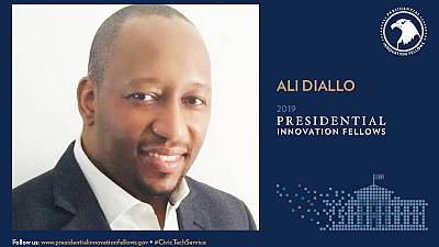 Senegalese Ali Diallo, joining PIF Presidential Innovation Fellows