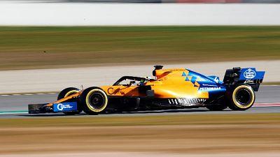 F1: test Barcellona, McLaren Norris 1/a