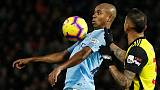 Man City's Fernandinho, Laporte out until mid-March with injuries