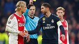اتهام راموس قائد ريال مدريد بتعمد الحصول على إنذار أمام أياكس