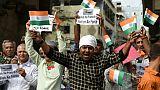 Manifestation contre le Pakistan, le 26 février 2019 à Ahmedabad, en Inde