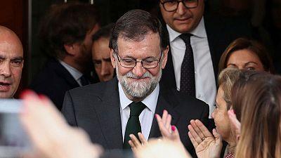 Spain's former PM Rajoy testifies in Catalan trial