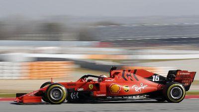 F1: Leclerc fermo ai box a Montmelò