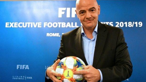 Le président de la Fifa Gianni Infantino, le 27 février 2019 à Rome