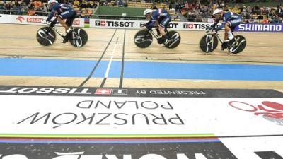 Cyclisme sur piste: l'argent pour la France en vitesse aux Mondiaux