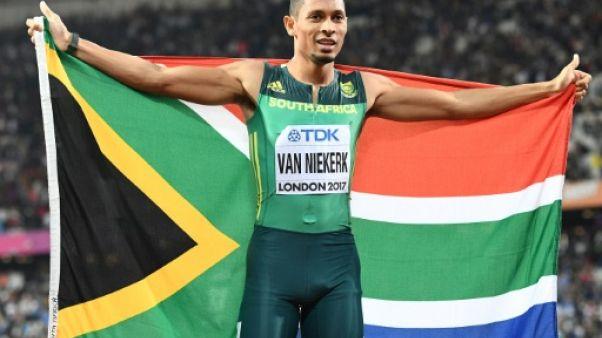 """Mondiaux d'athlétisme: le Sud-Africain Van Niekerk courra """"probablement"""" à Doha"""