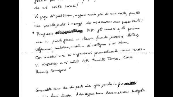 Formigoni scrive a Tempi,buona battaglia