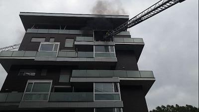 Incendio ed esplosione in palazzo Terni