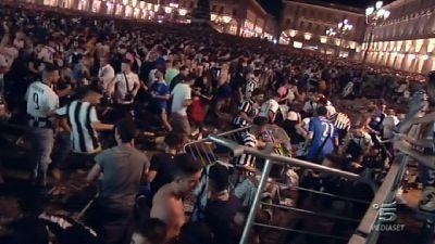 P.za San Carlo, abbreviato banda spray