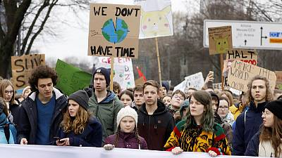 German students walk out of school in climate change protest