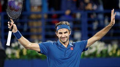 Federer in finale a Dubai con Tsitsipas
