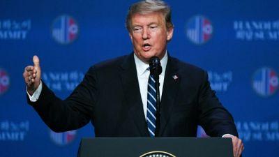 Le président américain Donald Trump, le 28 février 2019 à Hanoï