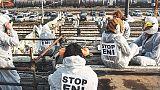 Protesta centri sociali a Eni Marghera